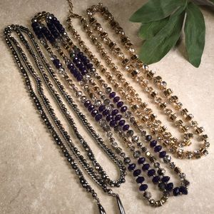 Jewelry - Bundle 3 long jeweled beaded necklaces